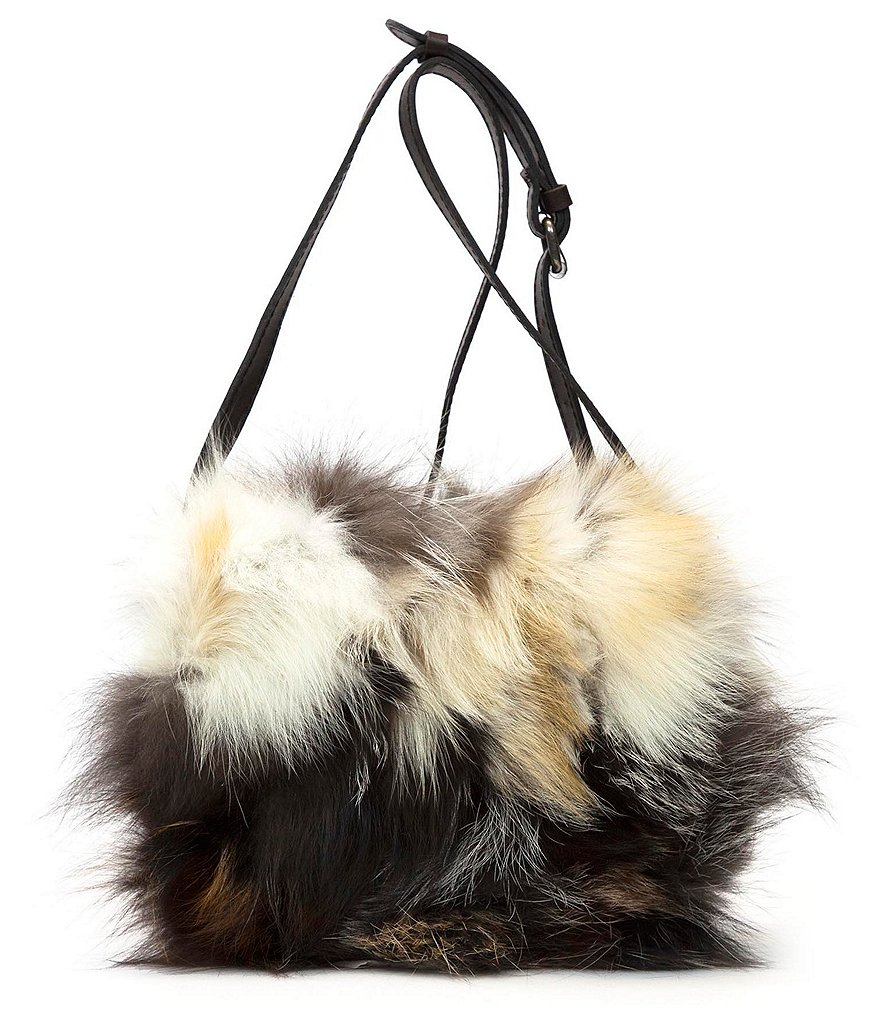 Patricia Nash European Fox Collection Salerno Fur Saddle Bag