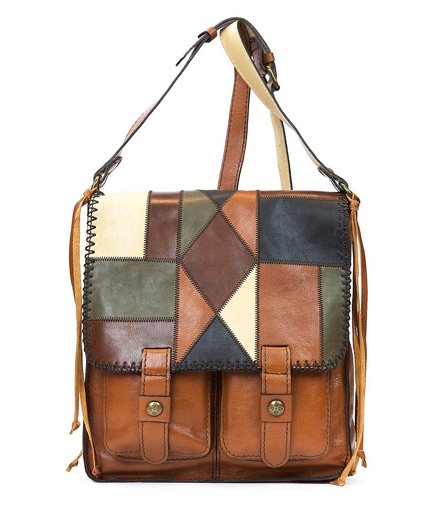Patricia Nash Zig Zag Patchwork Collection Armeno Messenger Bag