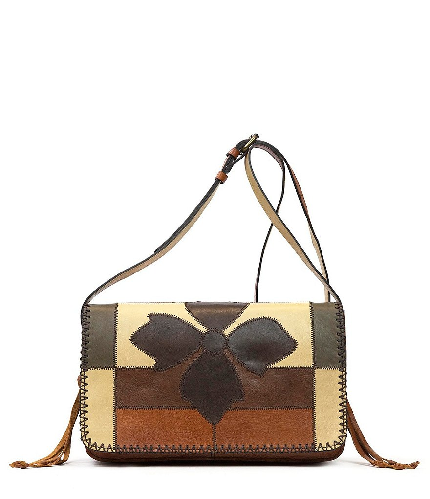 Patricia Nash Zig Zag Patchwork Collection Bari Square Cross-Body Bag