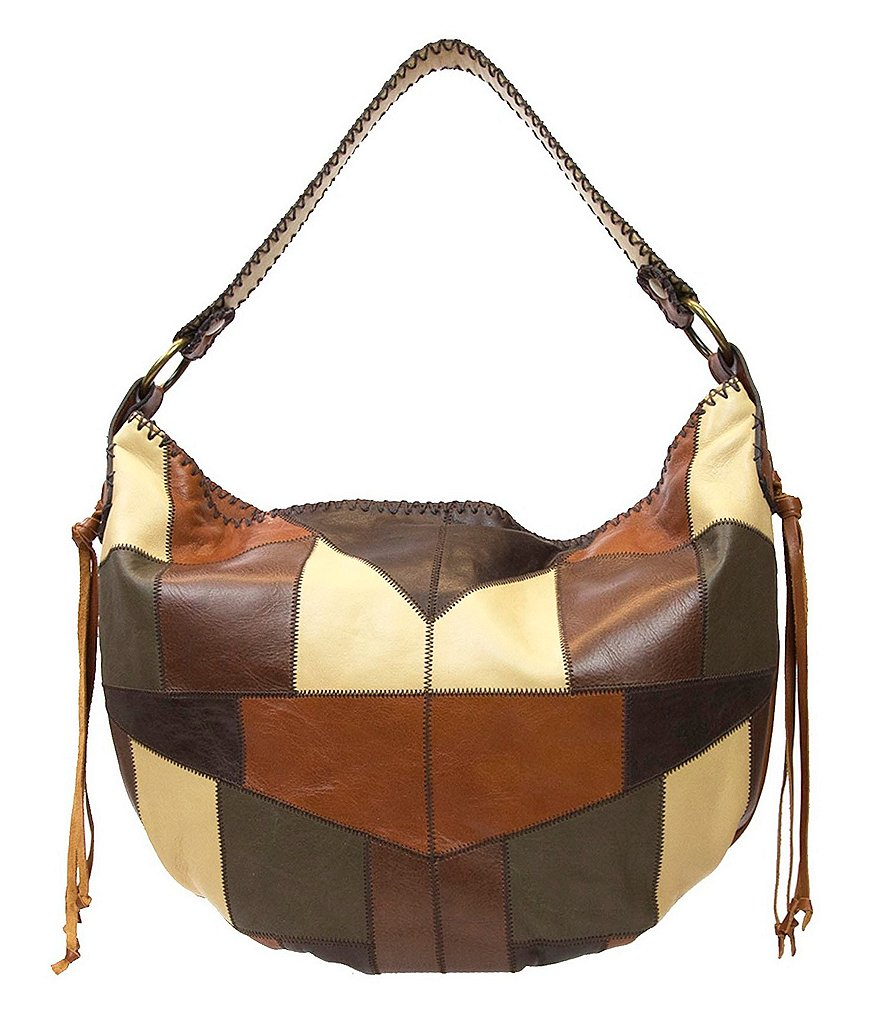 Patricia Nash Zig Zag Patchwork Collection Vincenzo Hobo Bag