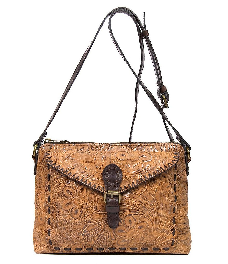 Patricia Nash Glazed Floral Collection Avellino Cross-Body Bag
