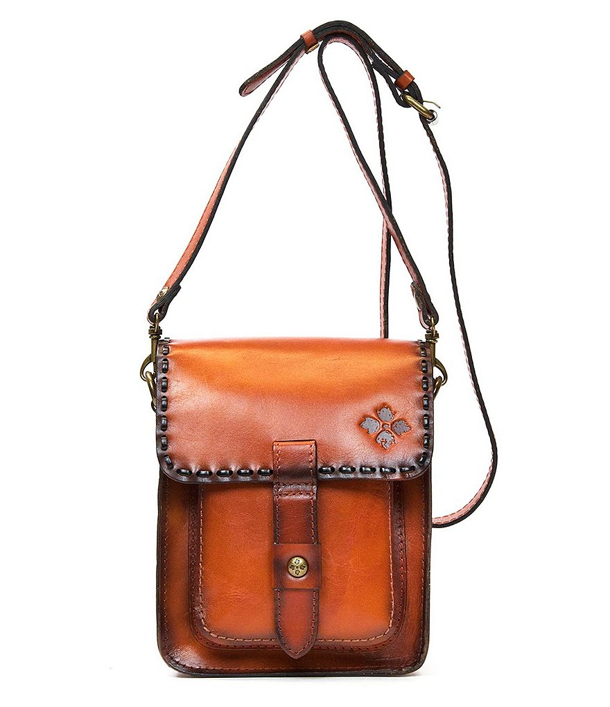 Patricia Nash Burned Veg Tan Collection Lari Flap Cross-Body Bag