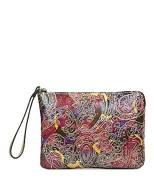 Patricia Nash Metallic Paisley Collection Cassini Wristlet