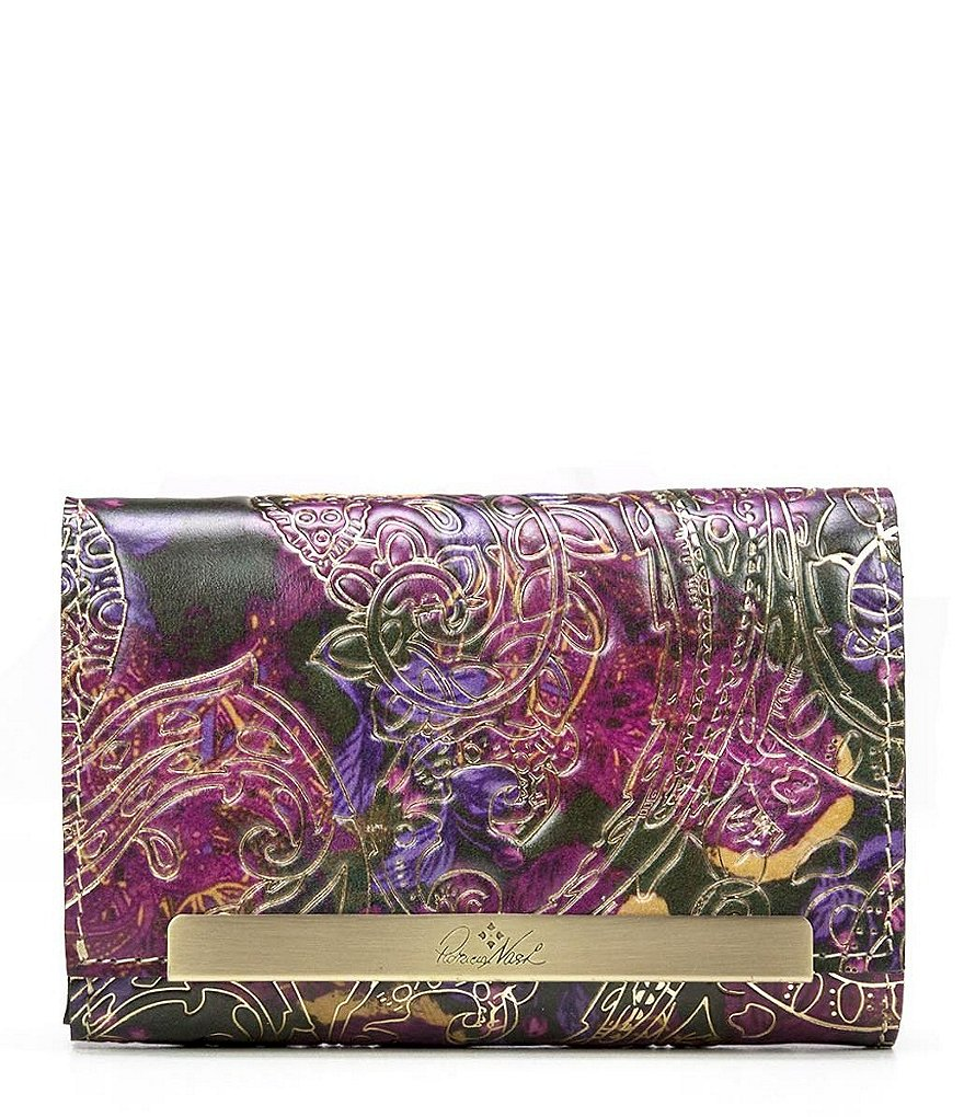 Patricia Nash Metallic Paisley Collection Cametti Wallet