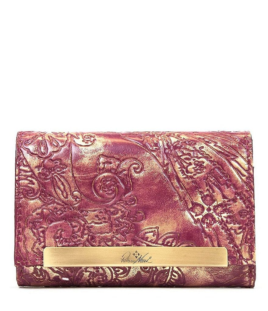 Patricia Nash Metallic Overdye Collection Cametti Wallet