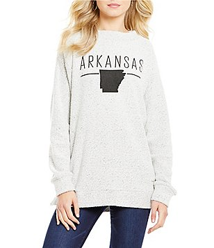 Royce Arkansas State Line Fleece Top