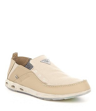 Columbia Bahama Vent PFG Canvas & Leather Slip On Boat Shoes