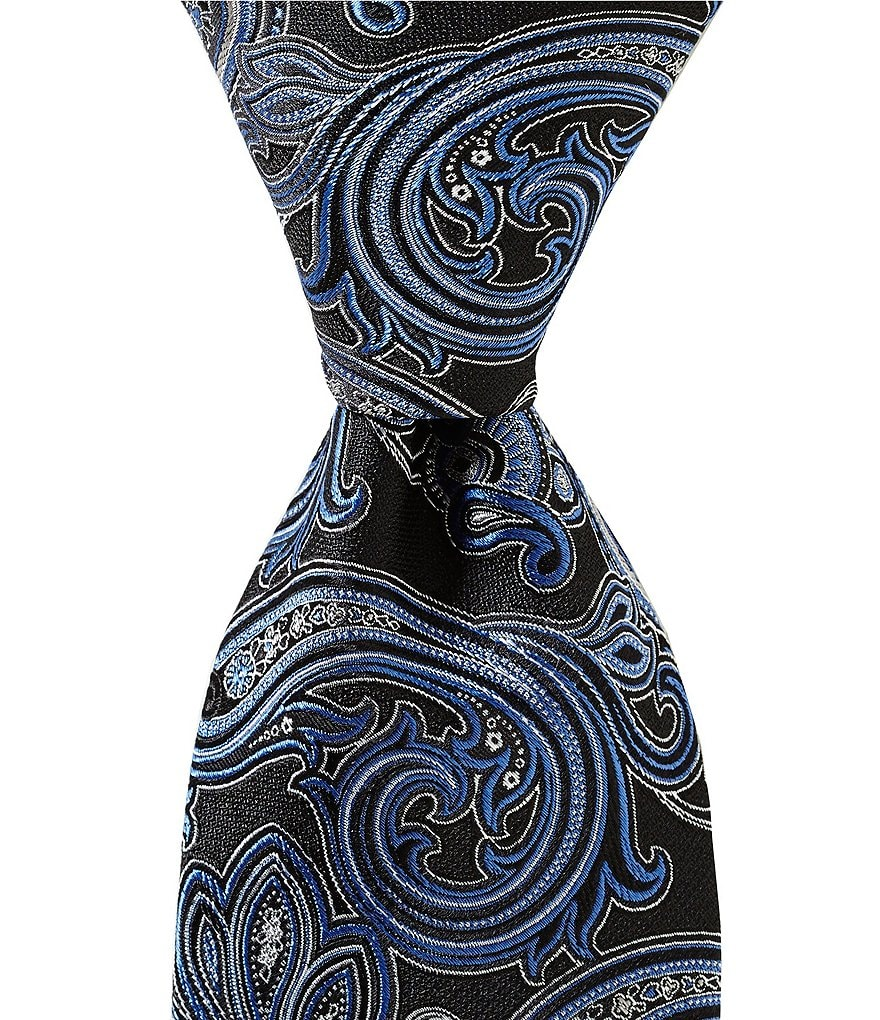 Cremieux Twin Paisley Traditional Silk Tie
