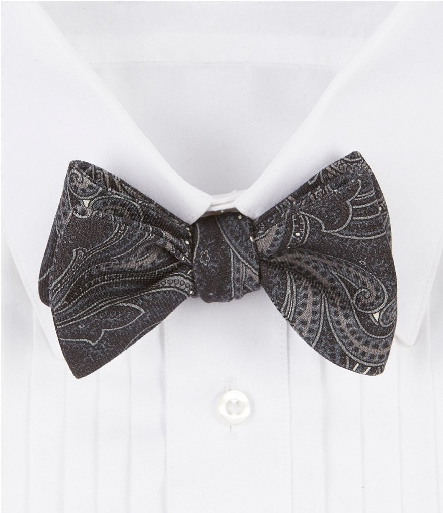 Ted Baker London Charles Paisley Wool Bow Tie