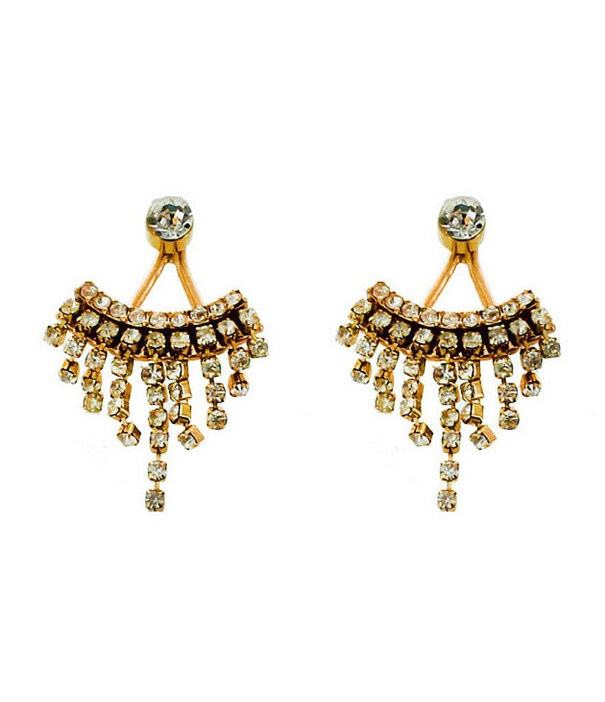 Panacea Pavé Crystal Front/Back Earrings