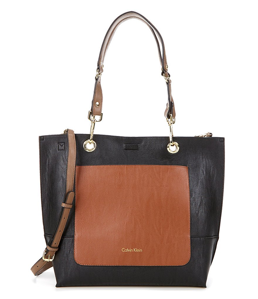 Calvin Klein Color Block Front-Pocket Tote