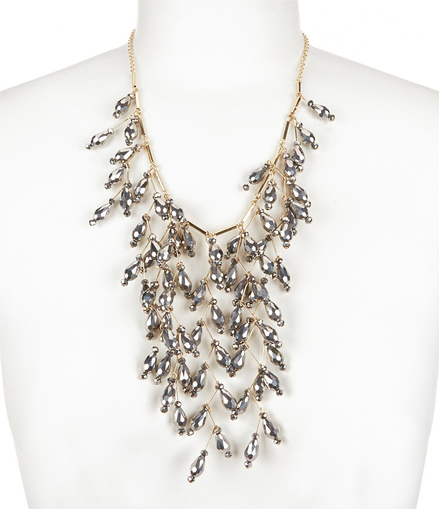 Natasha Accessories Beaded Statement Necklace