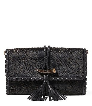 Lauren Ralph Lauren Clayton Collection Cece Laser-Cut Haircalf Clutch