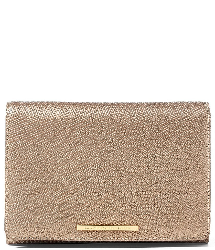 Lauren Ralph Lauren Darlington Collection Delaney Metallic Clutch