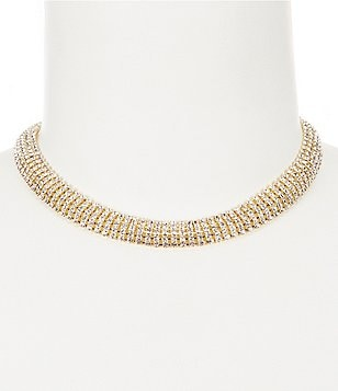 Natasha Accessories Crystal Choker Necklace