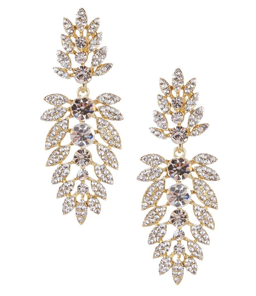 Natasha Accessories Crystal Statement Earrings