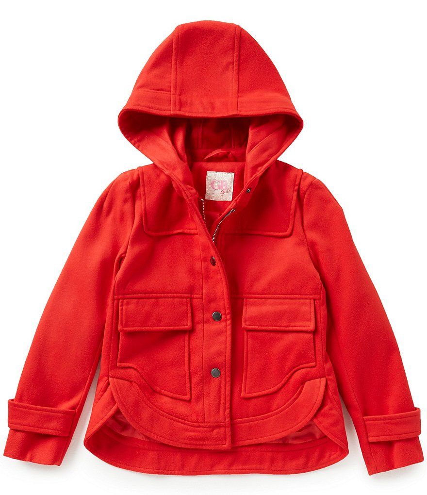 GB Girls Big Girls 7-16 Snap-Front Hooded Jacket