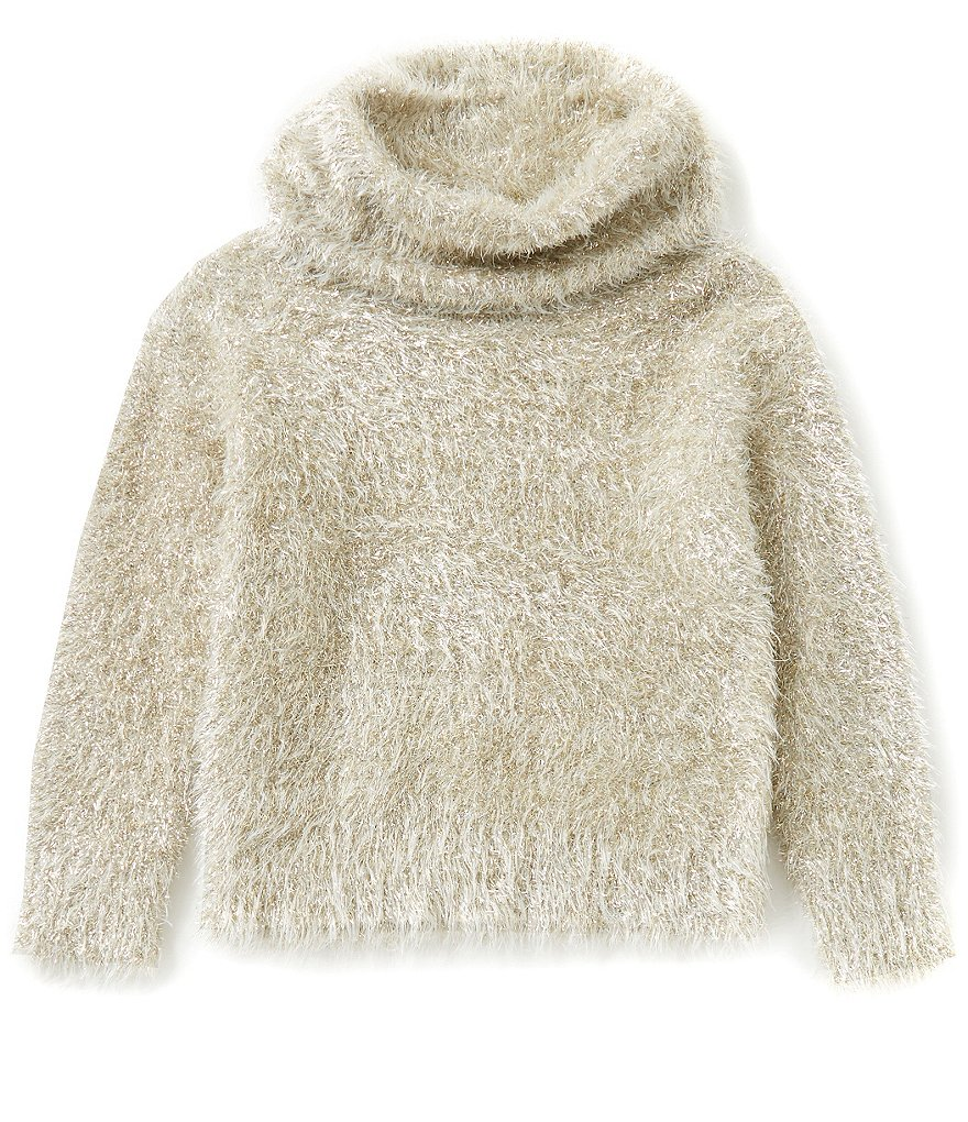 GB Girls Big Girls 7-16 Cowl-Neck Lurex Sweater