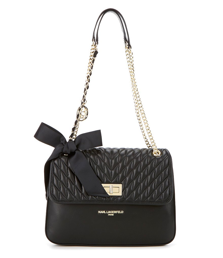 KARL LAGERFELD PARIS Lorraine Quilted Shoulder Bag
