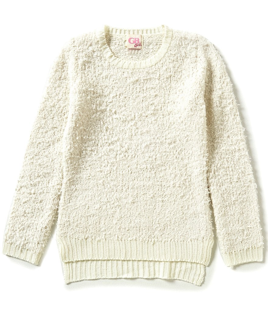 GB Girls Big Girls 7-16 Fuzzy High-Low Sweater