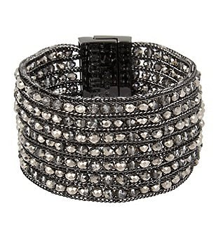 Kenneth Cole New York Beaded Woven Line Bracelet