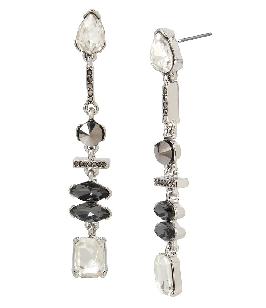 Kenneth Cole New York Pavé & Metallic Stone Linear Drop Earrings