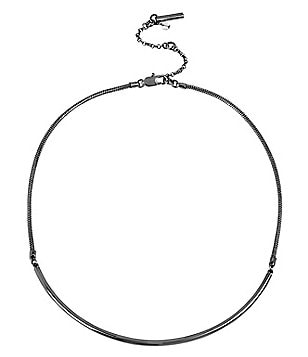 Kenneth Cole New York Curved Bar Frontal Necklace