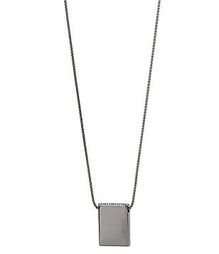 Kenneth Cole New York Pavé Rectangle Pendant Necklace