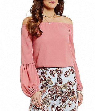 WAYF Rushville Off-the-Shoulder Solid Top