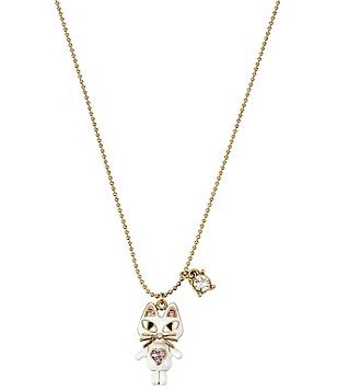 Betsey Johnson Cat Pendant Necklace