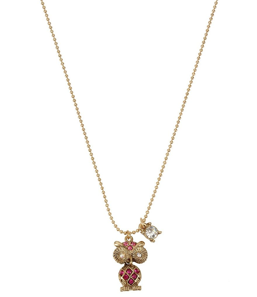 Betsey Johnson Owl Pendant Necklace