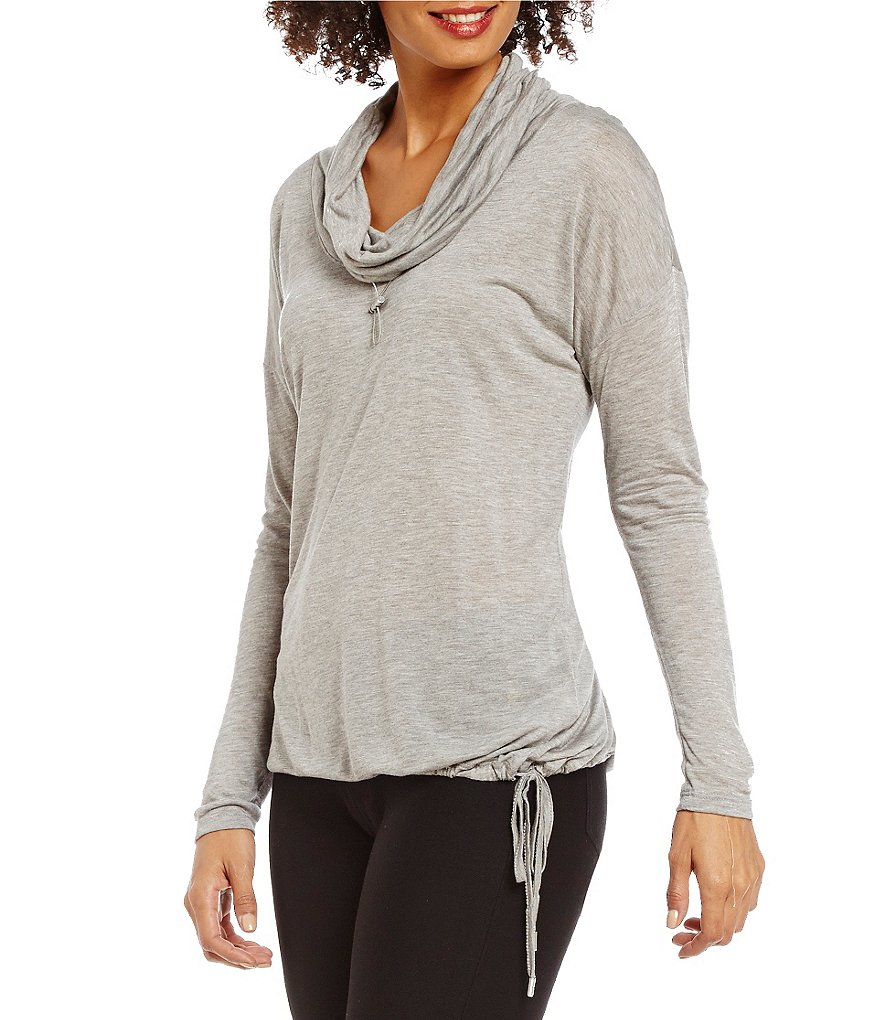 MICHAEL Michael Kors Funnel Neck Drawstring Hem Knit Top