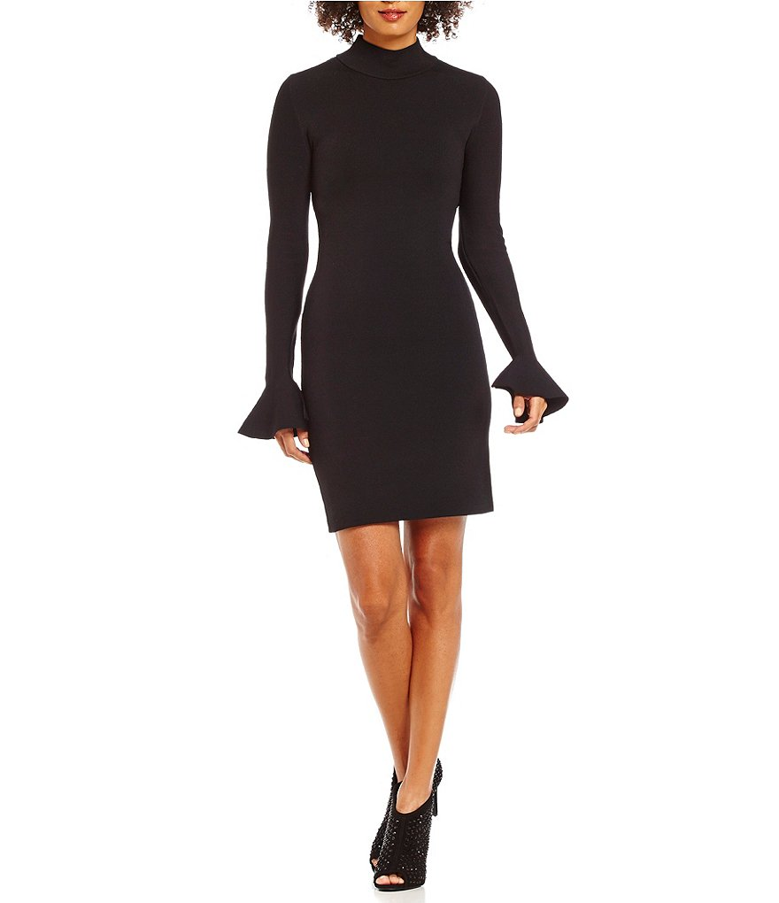 MICHAEL Michael Kors Mock Neck Bell Sleeve Knit Dress