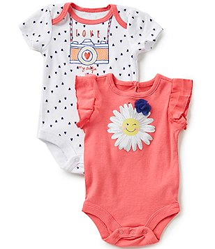 Baby Starters Baby Girls 3-12 Months Bodysuit 2-Pack