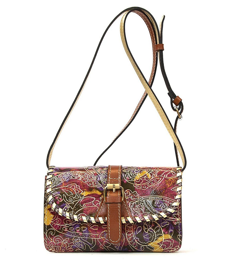 Patricia Nash Metallic Paisley Collection Torri Cross-Body Bag