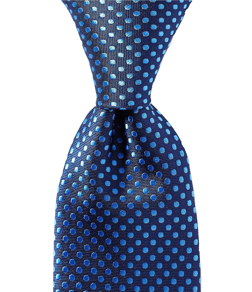 Roundtree & Yorke Bright Dot Traditional Silk Tie
