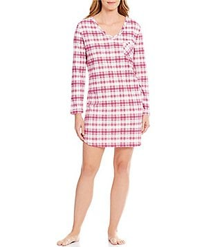 Karen Neuburger Plaid Sleepshirt