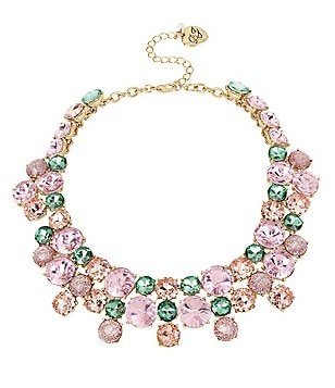 Betsey Johnson Mixed Stone Statement Collar Necklace