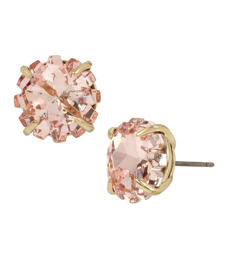 Betsey Johnson Faceted Stone Stud Earrings