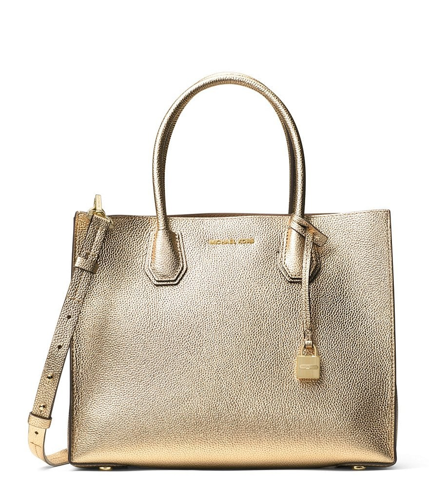 MICHAEL Michael Kors Studio Mercer Metallic Large Convertible Tote