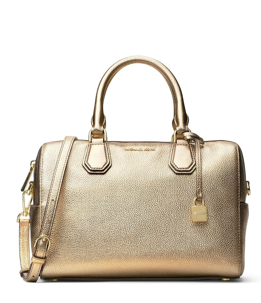 MICHAEL Michael Kors Studio Mercer Metallic Satchel