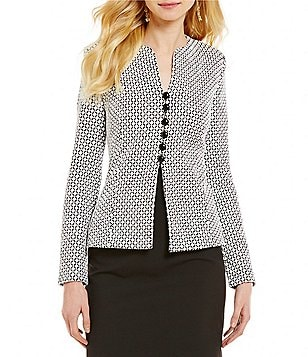Alex Marie Teresa Split Round Neck Long Sleeve Cuffed Jacket
