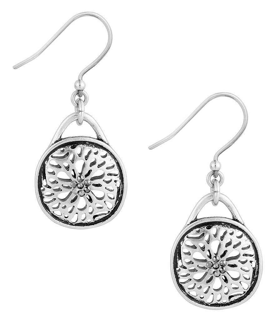Lucky Brand Sugar Plum Openwork Drop Earrings