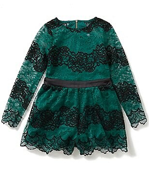GB Girls Big Girls 7-16 Long-Sleeve Lace Romper
