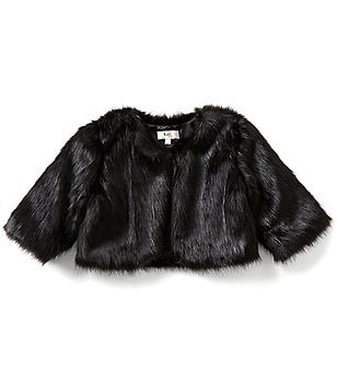 GB Girls Big Girls 7-16 Faux-Fur Topper Jacket