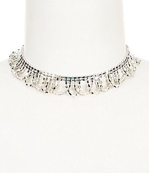 Cezanne Rhinestone Loops Choker Necklace
