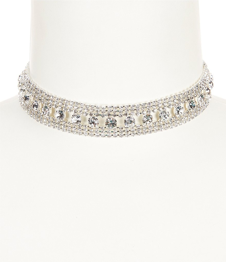 Cezanne Mixed Rhinestone Choker Necklace