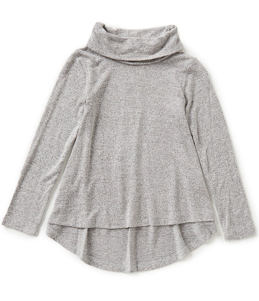 Copper Key Big Girls 7-16 Cowl-Neck Knit High-Low Tunic