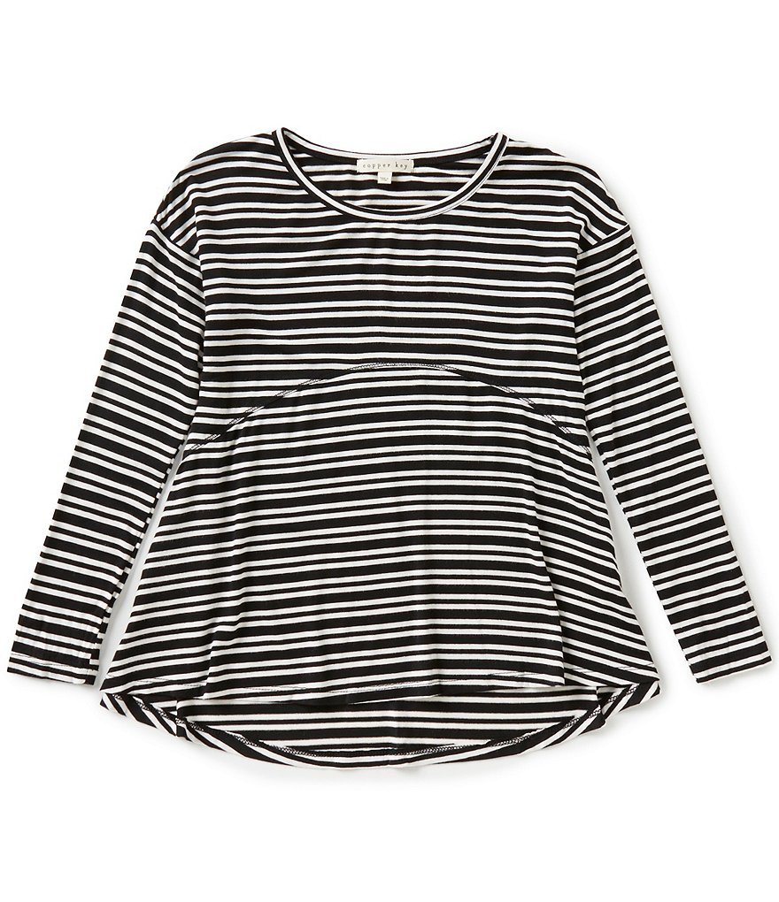 Copper Key Big Girls 7-16 Striped Knit Tee