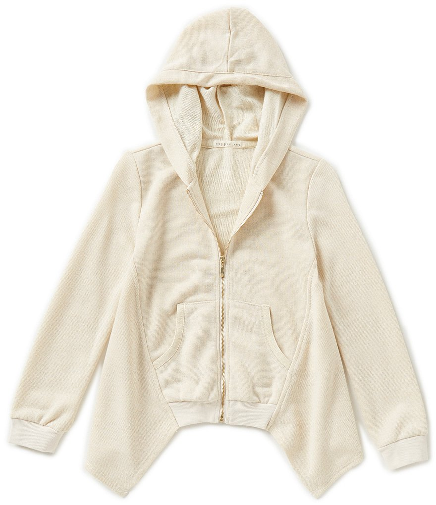 Copper Key Big Girls 7-16 Zip-Front Sparkle Hoodie